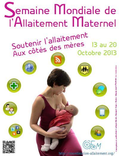 SMAM 2013 : « Soutenir l'allaitement au côté des mères »